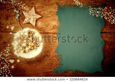 hintaló · rusztikus · karácsony · dekoráció · öreg · fából · készült - stock fotó © marimorena