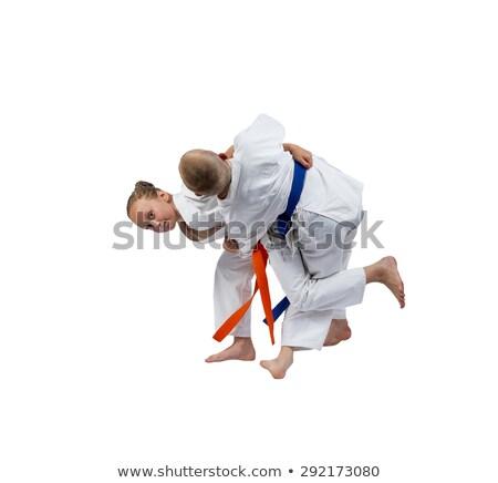 oranje · gordel · meisje · judo · kinderen · jongen - stockfoto © andreyfire