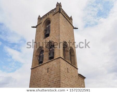 Top kasteel een rechter koninkrijk oorlog Stockfoto © rmbarricarte