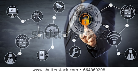 Unlocking A Virtual Lock In A Security Mechanism Stock photo © leowolfert