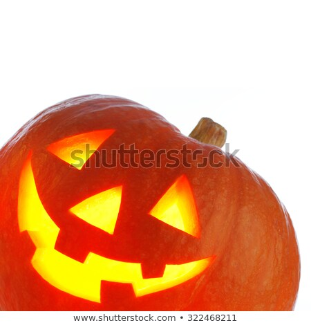 pooky halloween background face of jack o lantern in the corner Stock photo © dla4