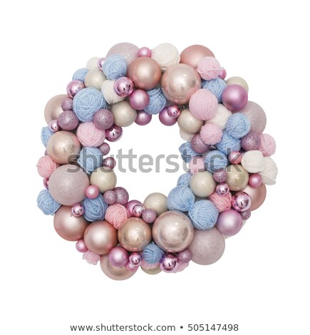 Colored clew with christmas balls Stock photo © AndreyCherkasov