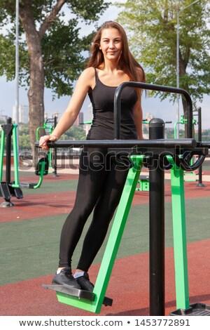 spor · salonu · cihaz · egzersiz · makine · beyaz · vücut - stok fotoğraf © paha_l