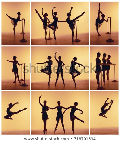 Stock fotó: The Young Ballerinas Stretching On The Bar