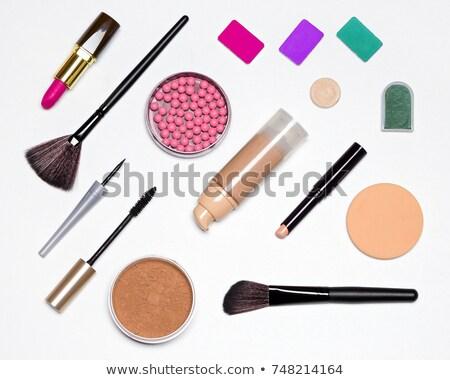 básico · compensar · escove · pó · mulher - foto stock © neirfy