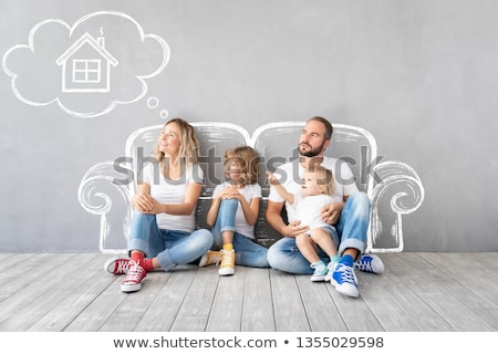 family of four in dream house stock photo © paha_l