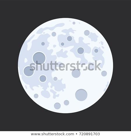 rajz · hold · mosolyog · csillagos · ég · csillagok · kék - stock fotó © madelaide