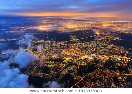 Airplane flying in beautiful sky above Netherlands Stock photo © gigra