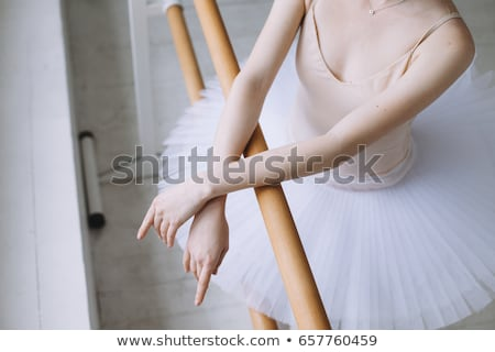 Young ballet dancer preaparing for a performance Stock photo © konradbak