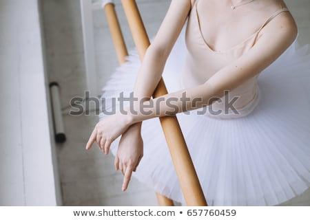 repülés · táncos · elegáns · hölgy · zárva · szem - stock fotó © konradbak