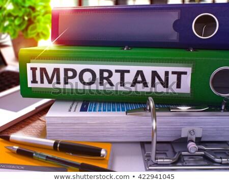 Stockfoto: Urgent On Office Folder Toned Image