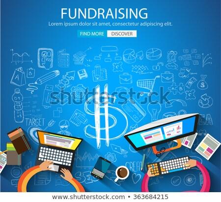ingesteld · schenking · liefdadigheid · icon · vector · ontwerp - stockfoto © davidarts