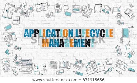 Application Lifecycle Management in Multicolor. Doodle Design. Stock photo © tashatuvango