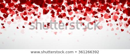 Foto d'archivio: Confetti · cuori · coprire · rosso · bianco · eps