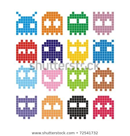 Pixel szörny ikonok húsvét szett szörnyek Stock fotó © mayboro1964
