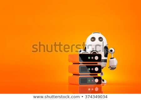 Robot server technician. Technology concept. Contains clipping path Stock photo © Kirill_M