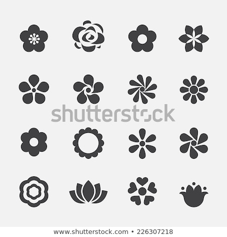 stylized lotus flower icon stock photo © ggs