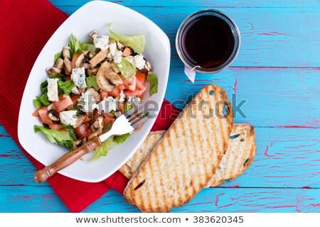 Gezonde salade thee exotisch picknicktafel gemengd Stockfoto © ozgur