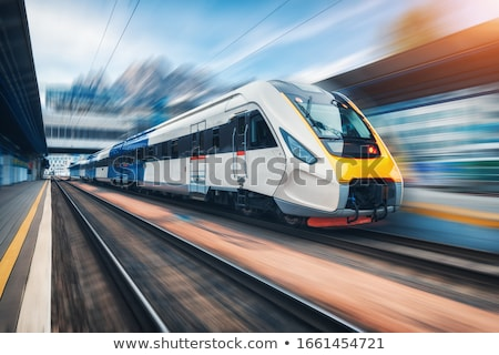 witte · super · gestroomlijnd · trein · technologie - stockfoto © klss