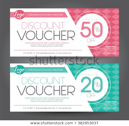 Set of gift (discount) voucher cards Stock photo © orson