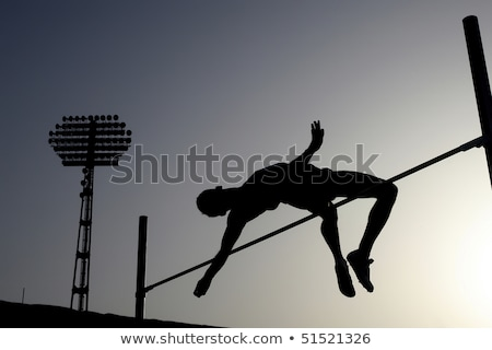 man competing in the pole vault Stock photo © kjpargeter
