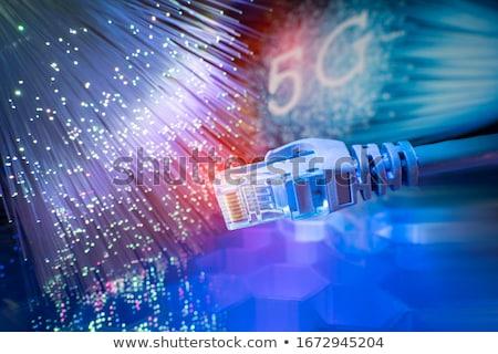 волокно · оптический · кабеля · катиться · широкополосный · интернет - Сток-фото © szefei