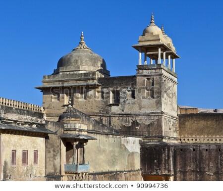 inside beautiful Amber Fort in Jaiput Stock photo © meinzahn
