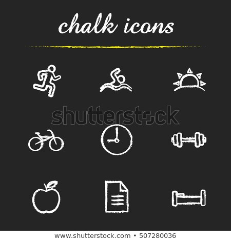 Swimmer. Drawn in chalk icon. Stock photo © RAStudio