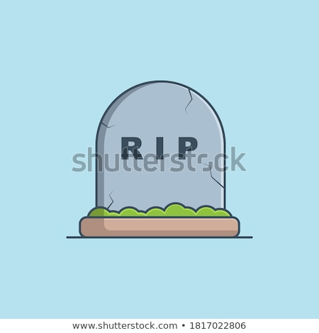 Grave stone on the ground Stock photo © bluering