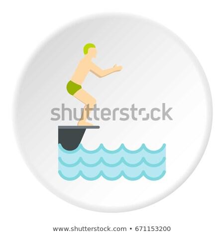 дайвинг стоять икона воды дизайна фитнес Сток-фото © angelp