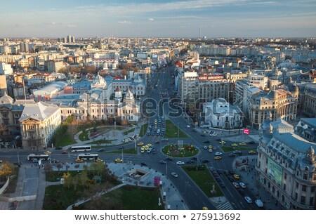 Summer Sunset Over Bucharest City Skyline In Romania Stock photo © radub85