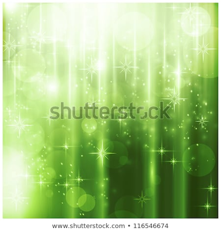 Snowflakes With A Bright Stars With A Green Background Zdjęcia stock © wenani