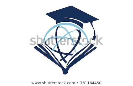 mezuniyet · kapak · tahta · yalıtılmış · örnek · beyaz - stok fotoğraf © timurock