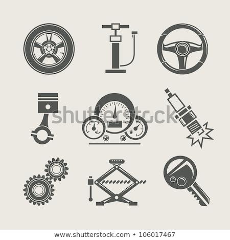 szikra · gyújtás · gázolaj · gép · sérült · papír - stock fotó © serg64