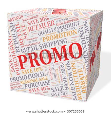 Promotion Cube Indicates Cheap Clearance And Save Stock photo © stuartmiles