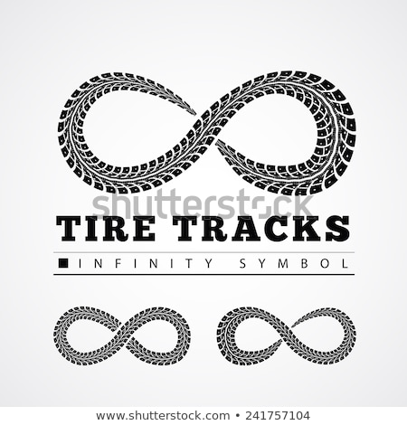 Tire Tracks in Infinity Form Stock photo © m_pavlov