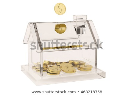 piggy bank with house shape financial concept stock photo © andreasberheide