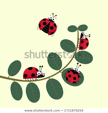 A garden with ladybugs Stock photo © bluering