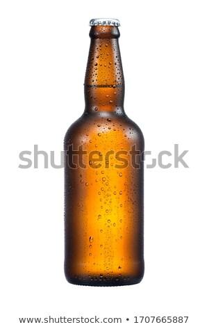 琥珀 ビール瓶 暗い 白 クリーン コンテナ ストックフォト © Digifoodstock
