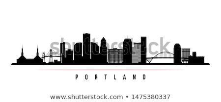 Орегон · Skyline · Панорама · центра · архитектура · воды - Сток-фото © rigucci