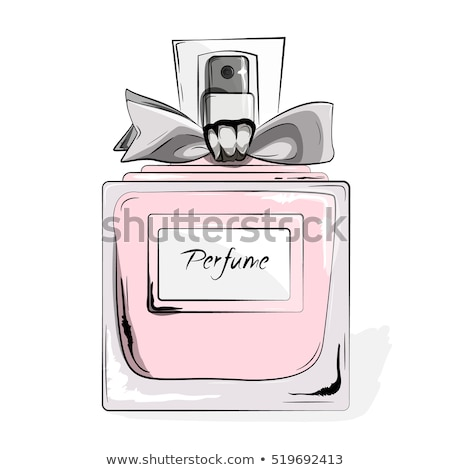 Girl in pink with perfume bottle. Vector Stock photo © lordalea
