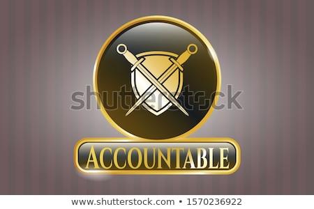 Shield with Crossed Swords Stock photo © fenton