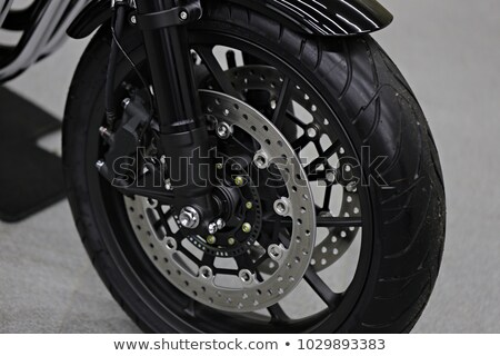 new shiny brake discs on motorcycle stock photo © sarymsakov