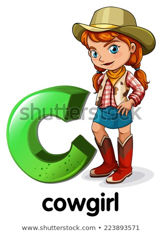 A letter C for cowgirl Stock photo © bluering