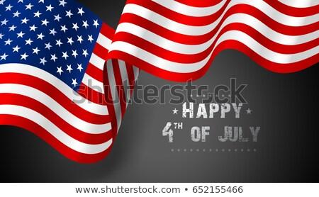США флаг волны древесины звезды Сток-фото © zapomicron