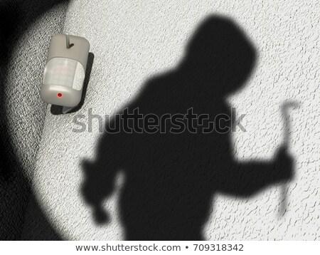 Stock fotó: Mozgás · detektor · fal · izolált · fehér · ház