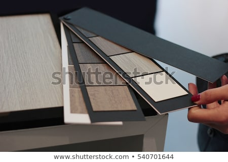 variety of wood panels with laminated samples stock photo © zurijeta