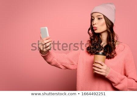 кофе · утки · лице · красивой · музыку - Сток-фото © Fisher