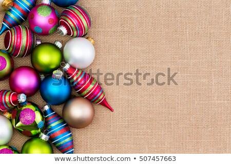 Színes tömb karácsony díszítések zsákvászon színes Stock fotó © ozgur