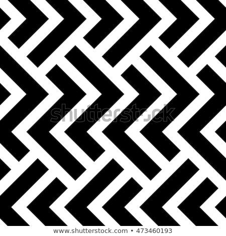 Vector Seamless Black And White Halftone Geometric Cubes Pattern Stock photo © CreatorsClub